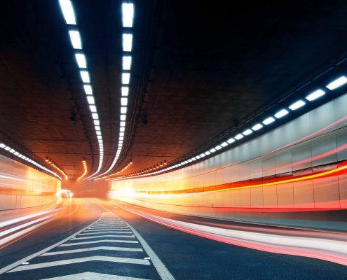 Tunnel leuchten